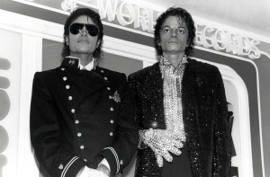 Michael with the Wax Figure at the Guinness Museum