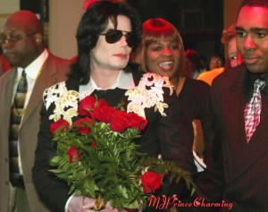 MJ with Roses