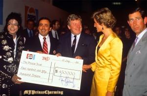 Michael meets Princess Diana & Prince Charles backstage