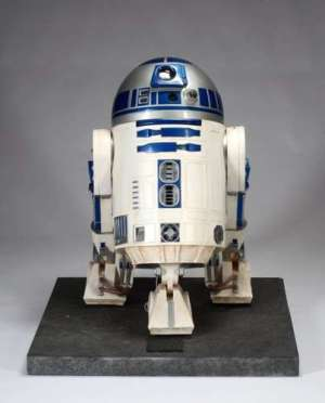 Life-size replica of Star Wars robot R2-D2